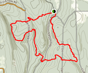 Abbott Loop Trail Map