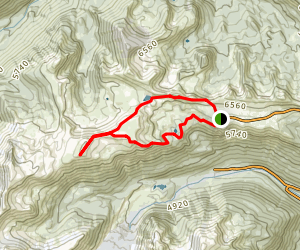 Burroughs Mountain Loop Trail  Map