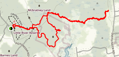 Frank Knowles Little River Reserve Trail Map