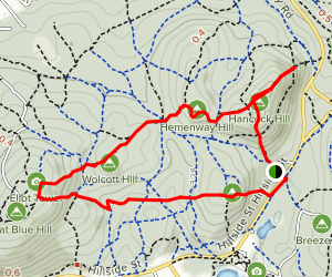 Great Blue Hill Trail Map