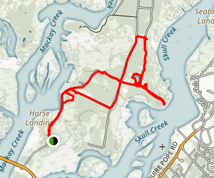 Pinckney Island Ride Trail Map