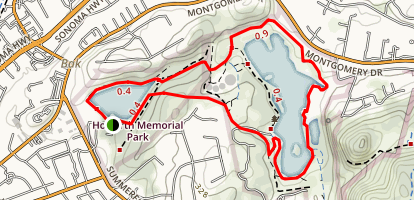 Lake Ralphine and Spring Lake Loop Map