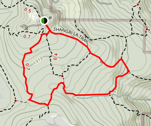 Shangrila, Anti-Aircraft Ridge Loop Trail Map