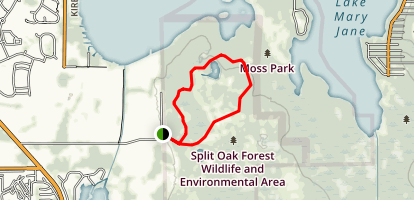Split Oak Forest Green Trail Map