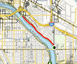 Mississippi Gorge Trail Map