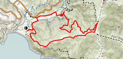 Middle Green Gulch Trail Map