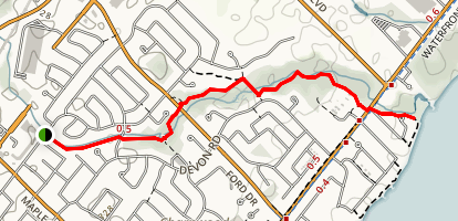 Joshua's Creek Trail Map