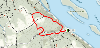Susquehanna Ridge Trail Large Loop Map
