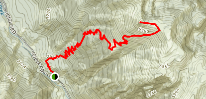 Fourth of July Creek Trail to Icicle Ridge Map