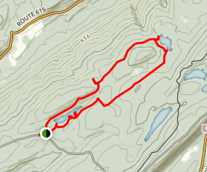 Three Mountain Ponds Trail  Map