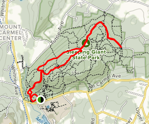 Sleeping Giant Head Blue and Violet Loop Trail [CLOSED] Map