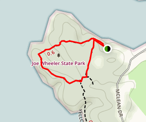 Joe Wheeler Blue Trail Loop Map