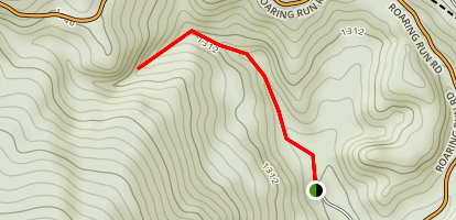 Roaring Run Hoop Hole Trail Map