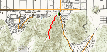Jurupa Hills North Trail Map