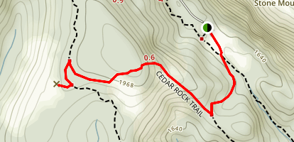 Cedar Rock Trail Map