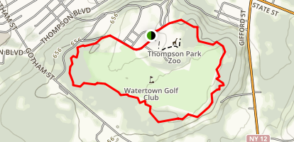 Thompson Park Trails Map