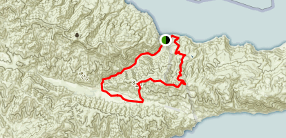 Santa Cruz Island: Pelican Bay And Prisoners Harbor Trails Map