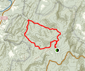 Mathews Arm Overall Run Trail Map