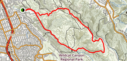 San Pablo Ridge Trail Map