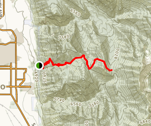 Slide Canyon Trail Map