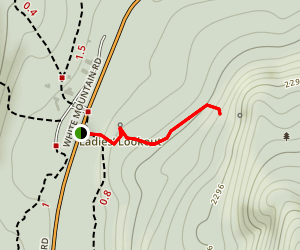 Square Ledge in Pinkham Notch Map