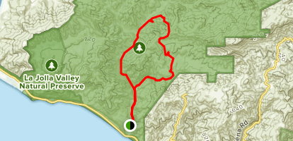 Serrano to Sycamore Canyon Loop Trail Map