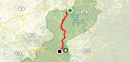 Sheltowee Trace NRT Cave Run to RRG Map