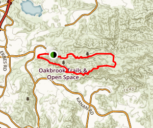 Albertson Chesebro Loop Trail Map