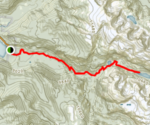 East Inlet Trail to Lake Verna Map