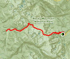 Flattop Mountain Trail to Ptarmigan Pass to Big Meadows Map