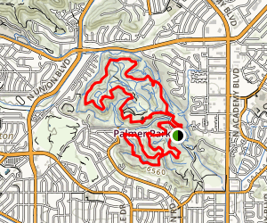 Palmer Park Outer Loop Trail Map