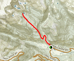 Yipsilon Lake Trail Map