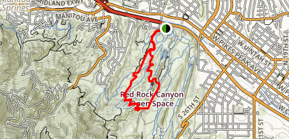 Hogback Ridge Summit via Quarry Pass, Red Rock Canyon, Roundup, Sand Canyon Loop Map