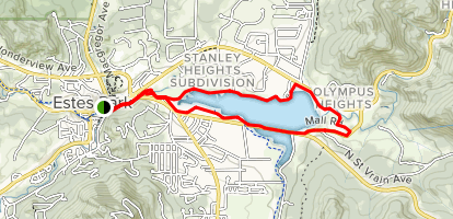 Big Thompson River Walk to Lake Estes Map