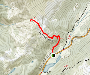 Specimen Mountain Crater Trail [CLOSED] Map