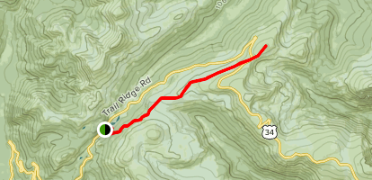 Ute Trail from Poudre Lake to Alpine Ridge Map