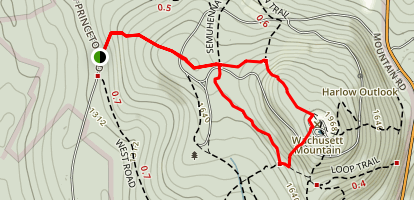 Wachusett Mountain West Side Trail Map