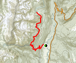 Red Mountain via Grand Ditch Trail Map
