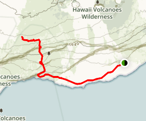 Chain of Craters Road to Halape Trail Map