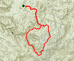 Rogers Canyon Loop Trail from Reavis Trailhead Map