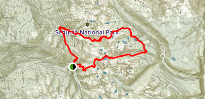Mineral King to Little Five Lakes Trail Map