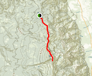 The Summit Trail from Pepperdine Trailhead to Patterson Lake  Map