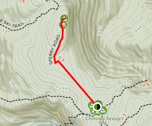 Sperry Road to Stony Ledge Trail Map