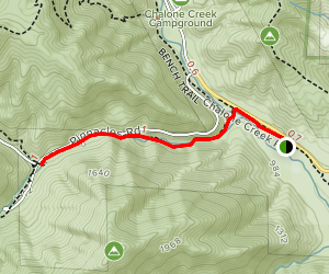 Peaks View Day Use Area to Bear Gulch Day Use Area Trail Map