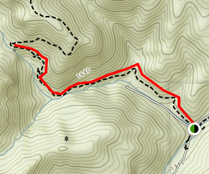 Condor Gulch Trail To Overlook Map