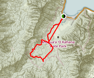 Nakoa Trail Kahana Valley Trail Map