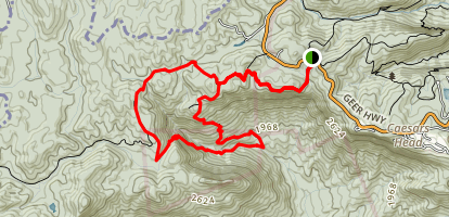 Raven Cliff Falls and Dismal Trail Loop Map
