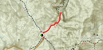 Balconies Trail to Machete Ridge Map
