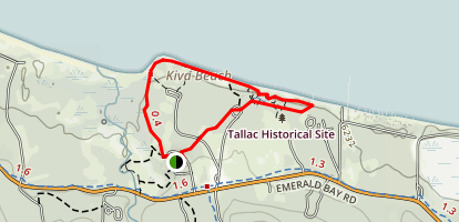 Lake of the Sky Trail and Tallac Historic Site Map
