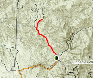 North Wilderness Trail to Twin Knolls Map